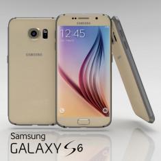 Telefon mobil Samsung Galaxy S6, Auriu, 32GB, Neblocat - Samsung Galaxy S6 G920F Platinum Gold Auriu 32gb Garantie Nou Liber de Retea