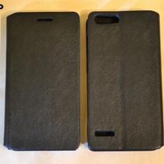 Husa HUAWEI ASCEND G6 Flip Case Slim Black - Husa Telefon Huawei, Negru, Piele Ecologica, Cu clapeta, Toc