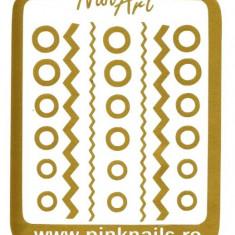 Unghii modele - Set sabloane vinyl - ''Gold Mix''