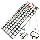 Tastatura Laptop Dell T8TVR argintie iluminata layout UK + CADOU