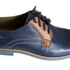 Pantofi barbati casual - eleganti din piele naturala cu siret - Model Fico
