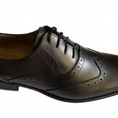 Pantofi barbati lux - eleganti din piele naturala cu siret - Model Fabiano