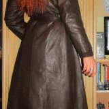 Palton dama, Piele - Palton/parpalac piele naturala, impecabil, mar. M