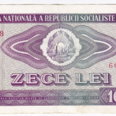 3) Bancnota 10 Lei 1966 VF+, An: 1966