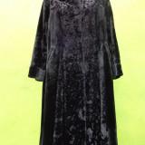 Mantou negru din catifea - Palton dama, Marime: M