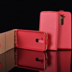 Husa Nokia Lumia 520 525 Flip Case Inchidere Magnetica Rosie - Husa Telefon Nokia, Rosu, Piele Ecologica, Cu clapeta, Toc
