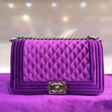 Geanta Dama Chanel, Geanta de umar, Catifea - Geanta Chanel Le Boy Medium Velvet * Diferite Culori *