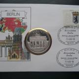 1992 Germania - Berlin FDC si Medalie ( Poarta Brandenburg )., Europa