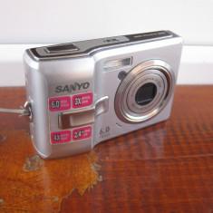 SANYO Vpc S65eX, 6mp - Aparat Foto compact Sanyo, Compact, 5 Mpx, 3x, 2.4 inch