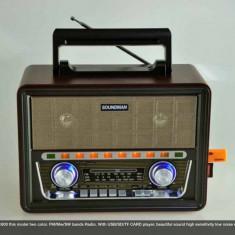 MP3 PLAYER RETRO SENZATIONAL, RADIO FM, STICK USB, CARD, ACUMULATOR INCLUS, HI FI., Peste 32 GB, FM radio