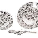Set tort 8 piese Silver Flower