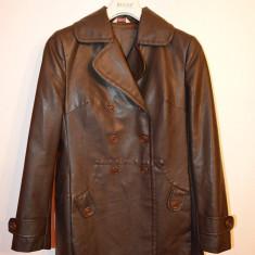 Geaca /jacheta de piele marca Stefanel marime 40, maro - Jacheta dama, Culoare: Din imagine, Bumbac