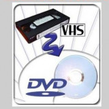 Transfer casete video VHS pe DVD