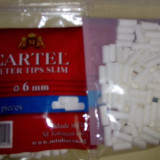 Foite tigari - Filtre pentru rulat Cartel slim 120 bucati/ 3 lei.