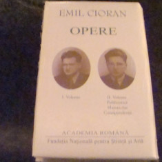 Emil Cioran - Opere - 2 volume - 2012 - editie de lux - Carte de lux