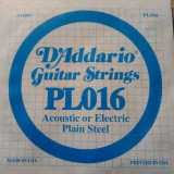 Coarda D'Addario PL016 pentru chitara electrica sau acustica