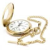 Ceas de buzunar Masonic - simboluri masonice (mecanic, gravat, lant, garantie)