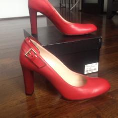 Pantofi Musette nr. 37 - Pantof dama, Culoare: Rosu, Piele naturala