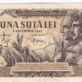 Bancnota 100 lei 5 decembrie 1947 (3), An: 1947