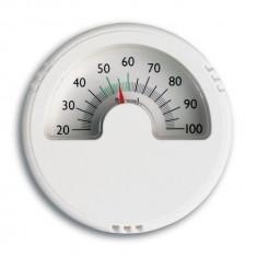 Termometru - Higrometru din plastic alb