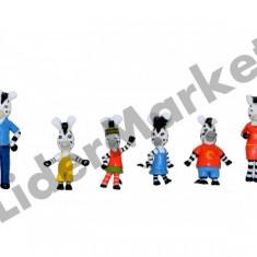 Set 6 zebre Zou - colectioneaza toate personajele ! - Figurina Desene animate