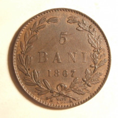 5 BANI 1867 / WAT - CO / -UNC - Moneda Romania