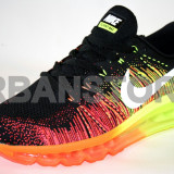 Adidasi barbati Nike, Textil - Adidasi Nike Air Max Flyknit Black & Orange + LIVRARE GRATUITA!
