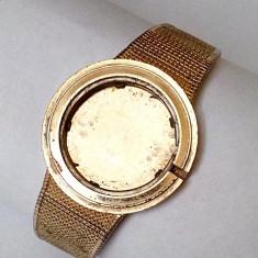Ceas Barbatesc omega, Elegant, Placat cu aur, Placat cu aur, 1970 - 1999 - Omega 18k 0.750 carcasa cu bratara placata cu aur