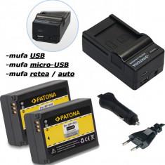 PATONA | Incarcator 4in1+ 2 Acumulatori pt Samsung NX200 NX1000 BP1030 BP 1030 - Baterie Aparat foto