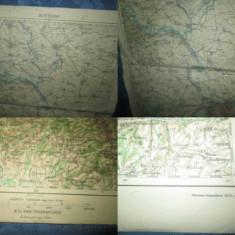 Harta mare Belgrad Yugoslavia 1916. Marimi 63/46 cm.