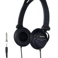 Casti Sony MDR-V150 tip DJ, negre, Casti Over Ear, Cu fir, Mini-jack Stereo 6.3 mm/3.5 mm