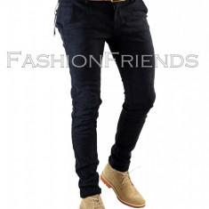 Pantaloni tip ZARA MAN bleumarin - pantaloni slim - pantaloni barbati - 5619