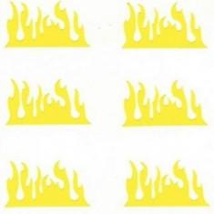 Unghii modele - Set 20 sabloane vinyl ''Fire''