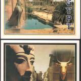 Lot 4 ilustrate EGYPT, necirculate, Fotografie, Africa