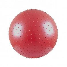 Minge fitness, aerobic si masaj 65 cm - cu pompa si brosura cu exercitii - rosie