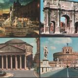 Lot 4 c.p. ilustrate, Roma, Fotografie, Europa