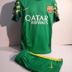 Set echipament fotbal - ECHIPAMENTE PORTAR COPII FC. BARCELONA -TER STEGEN SET FOTBAL