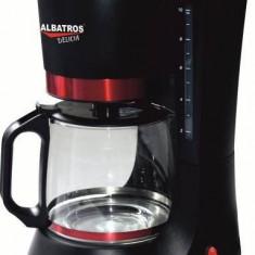 Albatros Filtru de cafea - negru+rosu - 680 W, 1.2 l, 10 cesti - NOU - Cafetiera