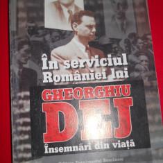 Istorie - IN SERVICIUL ROMANIEI LUI GHEORGHIU DEJ/INSEMNARI DIN VIATA GHEORGHE GASTONMARIN