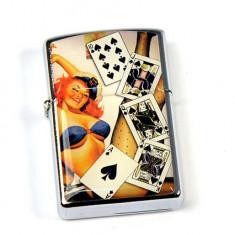 Bricheta Zippo - Bricheta tip Zippo - poker - Chinta Royala ( model 2 )