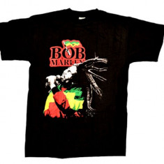 Tricou Bob Marley - flag Jamaica - Tricou barbati, S, Din imagine