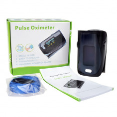 Pulsoximetru / Oximetru / Pulsometru deget Model nou cu display OLED si setari - Aparat monitorizare