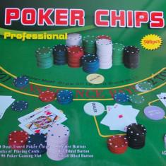 Set poker - Joc/Jocuri Poker Profesionale cu 500 piese