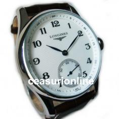 Ceas Barbatesc Longines, Lux - elegant, Mecanic-Manual, Inox, Piele, Analog - Mechanical Watch ! Cea Mai Buna Calitate ! ! Cutie Cadou !