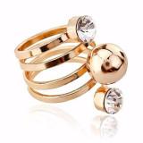 Inel placate cu aur - Superb inel 9K GOLD FILLED cu Zircon CZ . Marimea 10
