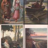 Lot 4 c.p.ilustrate, teme romantice, Fotografie, Europa