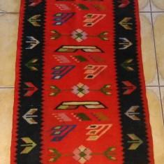 Nr. 15 Carpeta / covor vechi oltenesc tesut din lana 66 x 185 cm autentic