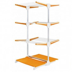 Teava instlatie sanitara - Suport vertical pentru intins rufe portocaliu cu alb Meliconi - Junior