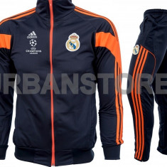 Trening barbati Adidas, Microfibra - Trening Adidas FC Real Madrid, Slim Fit, Conic + LIVRARE GRATUITA!