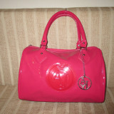 Geanta dama roz piele eco lucioasa AJ Armani Jeans